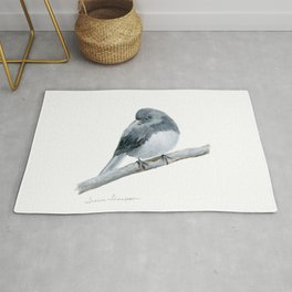 The Bashful Black-Eyed Junco by Teresa Thompson Rug