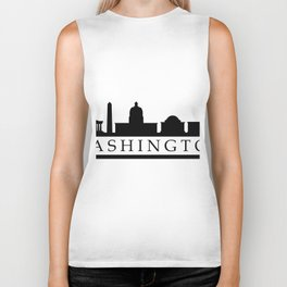 skyline washington Biker Tank