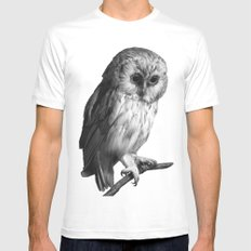 Wise Owl Mens Fitted Tee White MEDIUM