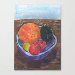 Still life of a fruit bowl Canvas Print