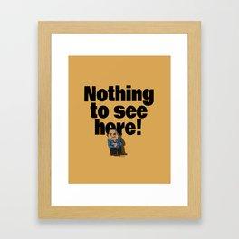 No! no.3 Framed Art Print