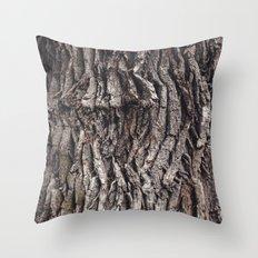 Oak tree trunk Throw Pillow