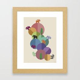 On Planets Framed Art Print