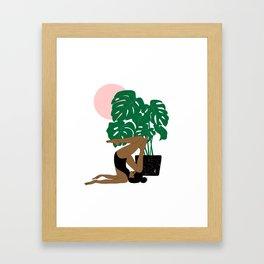summer yoga Framed Art Print