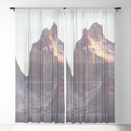 Torres Del Paine National Park Chile Ultra HD Sheer Curtain
