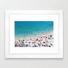 Pebbly Sunbake Framed Art Print