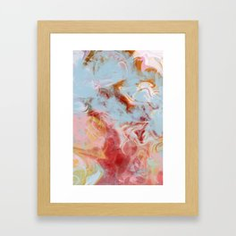 agate art Framed Art Print
