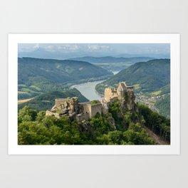 Castle Ruins of Aggstein, Wachau (Austria) Art Print
