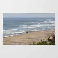 cape cod Area & Throw Rugs featuring Cape Cod Beach by Heidi Ingram