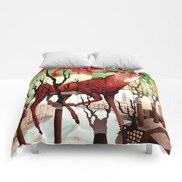 Deer In The Works Comforters