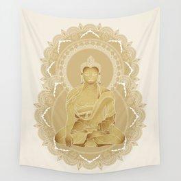 Gold buddha Wall Tapestry