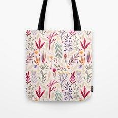 Light  Botanical Pattern Tote Bag