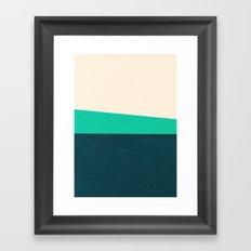Stripe II Fresh Mint Framed Art Print