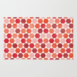 Red Tiles Rug