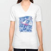 chihiro V-neck T-shirts featuring Chihiro in Spiritland by Hoborobo