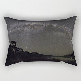 Milkway arching over Muriwai Rectangular Pillow