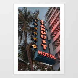 Stardust Hotel in Miami Florida Art Print