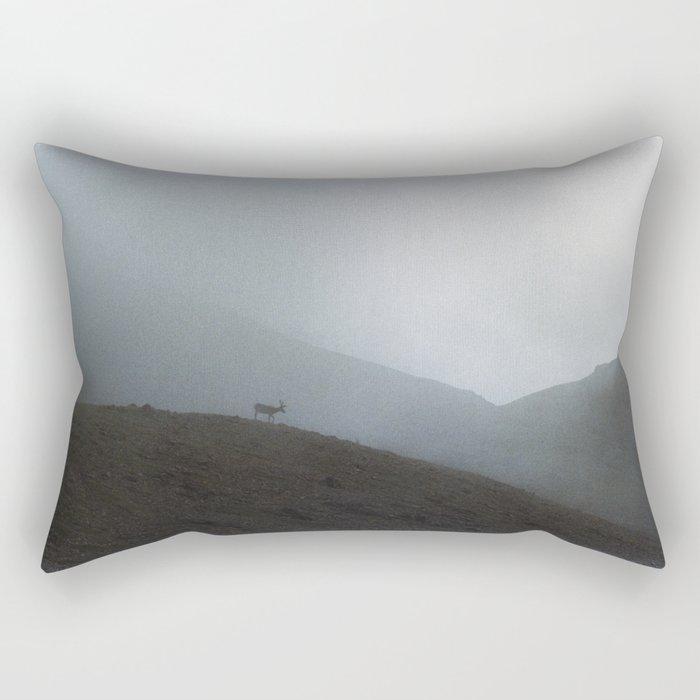 Ridge Reindeer Rectangular Pillow