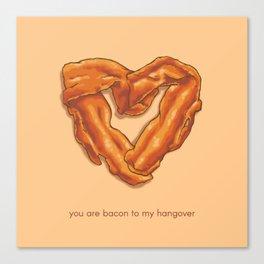 Bacon Valentine Canvas Print
