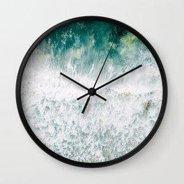 Ocean Print, Ocean Art, Ocean Printable Art, Ocean Waves, Blue Waves, Home Decor Art, Aerial Ocean Photography, Coastal Decor Art Wall Clock
