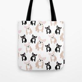 Cute French Bulldog Pattern Tote Bag