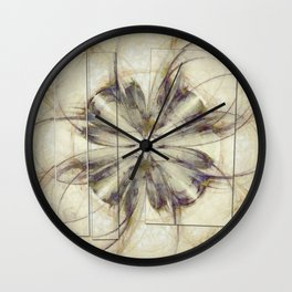 Groundlessness Balance Flowers  ID:16165-144053-72851 Wall Clock