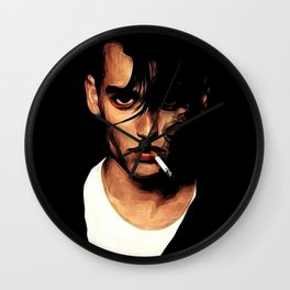 Off The Depp End Wall Clock