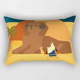 Moon in Egypt Rectangular Pillow
