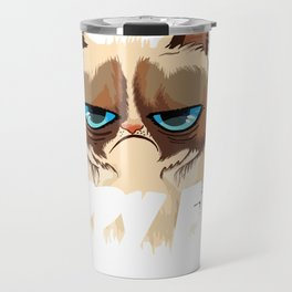 Cat - This Is My Happy Face Travel Mug