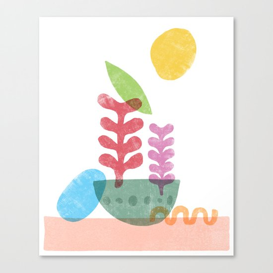 Still Life with Egg & Worm Canvas Print