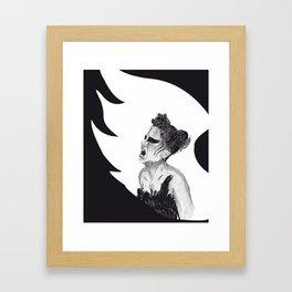 Black Swan III Framed Art Print