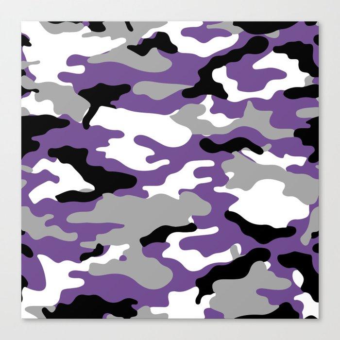 Military Camo - Violet Leinwanddruck