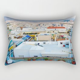 Rooftops, Athens Rectangular Pillow