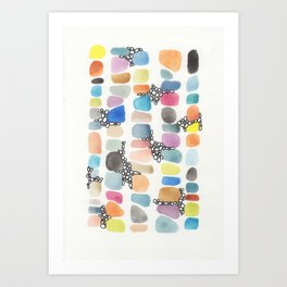 colorful stones Art Print