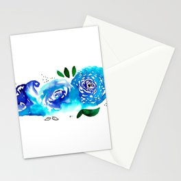 Three Blue Christchurch Roses Stationery Cards