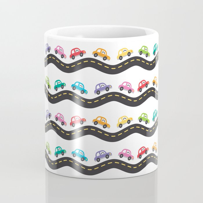 Little cars on the road Coffee Mug