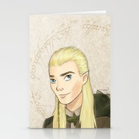 legolas Stationery Cards featuring Legolas by Joan Pons