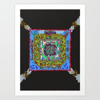 pixel art Art Prints featuring Pixel by oddscenes