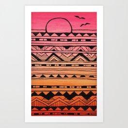 Surf Tribe Art Print