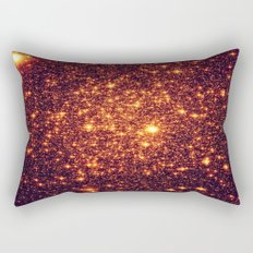 Copper Bronze Glitter Stars Rectangular Pillow
