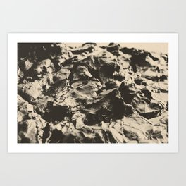 Beach Rock Art Print