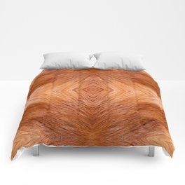 Red fox hairy fur texture cloth Comforters