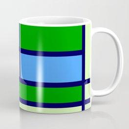 Mondrianista green blue Coffee Mug