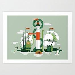 Sea of Adventure Art Print