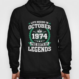 October 1974 The Birth Of Legends Hoody