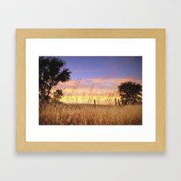 Evening Glow a country sunset Framed Art Print