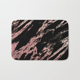 Darkness rose gold Bath Mat