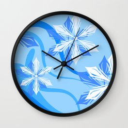 The Flower Abstract Holiday Wall Clock