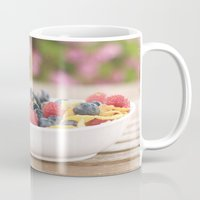 breakfast Mugs featuring Breakfast by Yolanda Méndez
