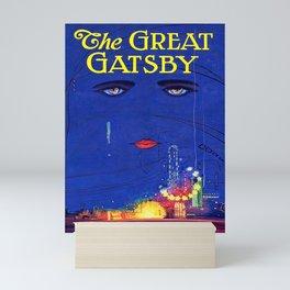 Great Gatsby Poster: F Scott Fitzgerald Book Cover Print Mini Art Print